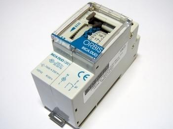 <p> Ööpäevane elektromehaaniline aegrelee Orbis, Inca Duo QRD, OB330232</p>