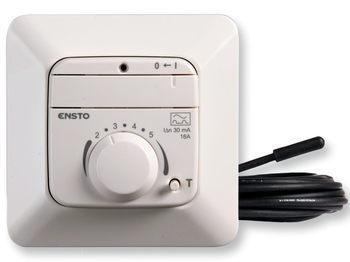 """<p> Терморегулятор Ensto, ECO16FJW, (16А) 3600Вт, 2621009, <span style=""""color:#ff0000;"""">вместе со встроенным устройством защитного отключения 30мA(0,03A)</span></p>"""