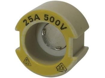 <p> Контрольная керамическая гильза для предохранителя 25A/500В, Ifö Electric, 25/500ST</p>