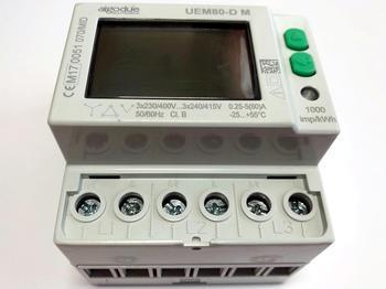 <p> Moodulelektriarvesti 3-faasiline 2-tariifne 0,25-5(80) A, UEM80-D M, Algodue Elettronica</p>