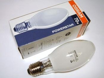 <p> Metallhalogeniidlamp 70 W, Osram Powerstar HQI-E 70W/WDL/CO, 64393</p>