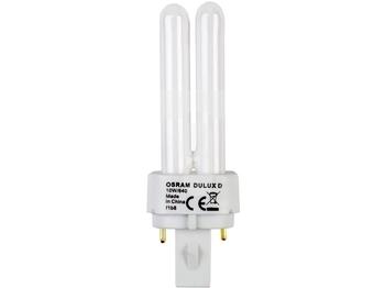 "<p> Kompakt-luminofoorlamp 10W, Osram Dulux® D, 10W/840/G24d-1, <span style=""color: #ff0000"">2-PIN</span>, 010595</p>"