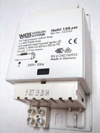 <p> Drossel 150 W, Vossloh Schwabe NaHJ150.620, 533565</p>