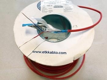 <p> Tulekindel kaabel 1 x 2 x 1 mm + 0,8 mm, JE-H(St)H FE180 E90, ETK Kablo A.S.</p>