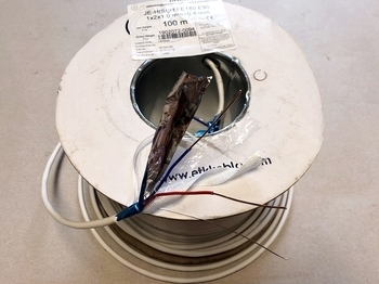 <p> Пожаростойкий кабель 1 x 2 x 1 мм + 0,8 мм, JE-H(St)H FE180 E90</p>