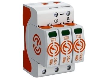 <p> Välguvoolukindel liigpingepiirik tüüp 1+2, V50-3-280, OBO, 5093511</p>