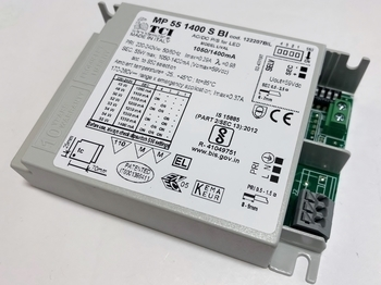 """<p> Elektrooniline <span style=""""color: #ff0000"""">LED</span> trafo 45-55W, 1050-1400mA, max. 59V, Lival, MP 55/1400 S BI, 122207BIL</p>"""