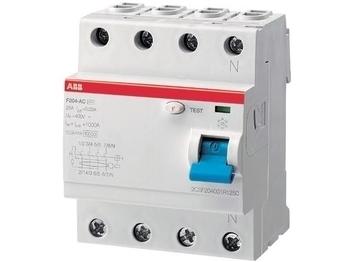 <p> Aвтомат тока утечки 3-фазный 25 A, 30мA(0,03A), ABB, F204 AC-25/0,03, 2CSF204001R1250</p>