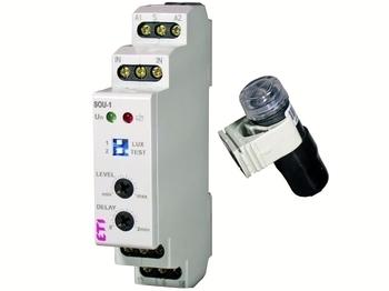 <p> Сумеречный выключатель в щит + датчик, SOU-1, ETI, 002470120</p>