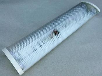 <p> Valgusti 2x18 W, Lenna, läbipaistva kupliga</p>