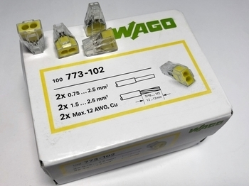 <p> Клеммы Wago 2 x 0,75-2,5 мм², 773-102</p>
