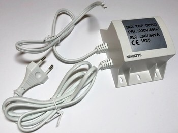<p> Mehaaniline trafo 24 V, 60 W, TRSF 230V/24V, Watts</p>