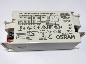 "<p> Elektrooniline <font color=""#ff0000"">LED</font> trafo 34-44W, 800-1050mA, 25-42V, Optotronic® OT FIT 40/220-240/1A0 CS, Osram, 617339</p>"