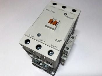 <p> Kontaktor 3-faasiline 110A(70kW), Metasol, MC-75a, LS Industrial Systems, 1382007200</p>