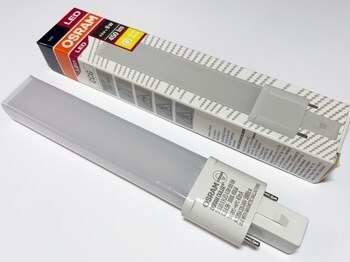 """<p> LED lamp 4,5 W, Osram Dulux® S, 4,5W/830/G23, <span style=""""color:#ff0000;"""">2-PIN</span>, 135284</p>"""