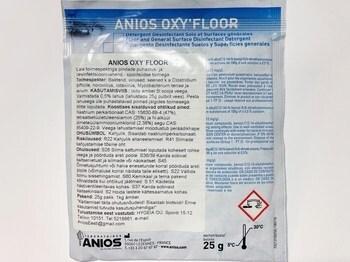 <p> Laia toimespektriga pindade puhastus- ja desinfektsioonivahend ANIOS OXY'FLOOR, kasutamiseks koroonaviiruse ajal</p>