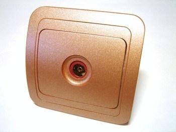 <p> TV - antenni süvispaigaldusega pistikupesa Makel (sari - Mimoza)</p>