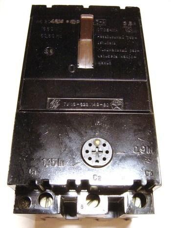 <p> Kaitselüliti 3-faasiline, 2,5A, Venemaa, AE2046M</p>
